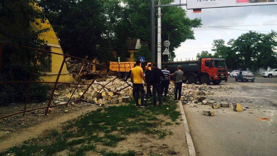 Снос аварийного жилья в Воронеже на Брусилова попал на видео