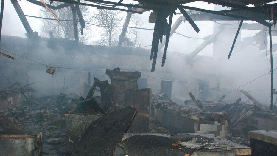 В Россошанском районе на пожаре пенсионер получил серьезные ожоги