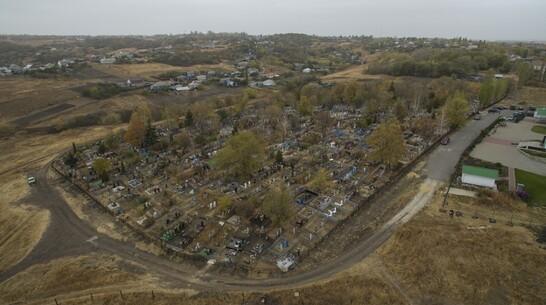 В Хохольском районе благоустроили старинное сельское кладбище