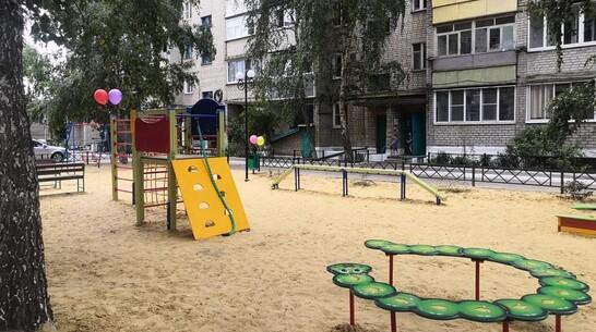 В Россоши на улице Линейной появилась новая детская площадка