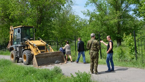 В Поворино начали второй этап реконструкции Парка Победы