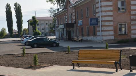В Поворино площадь перед МФЦ благоустроили за 4,7 млн рублей