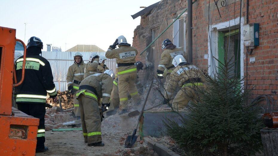 В Воронежской области разобрали опасные конструкции поврежденного взрывом дома