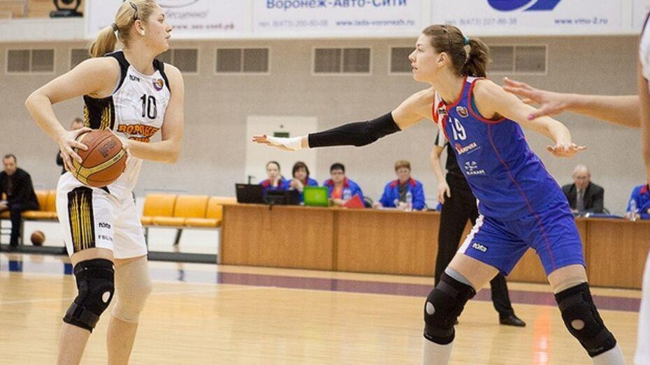 Баскетбольный клуб «Воронеж-СКИФ» сразился с лидером женской суперлиги