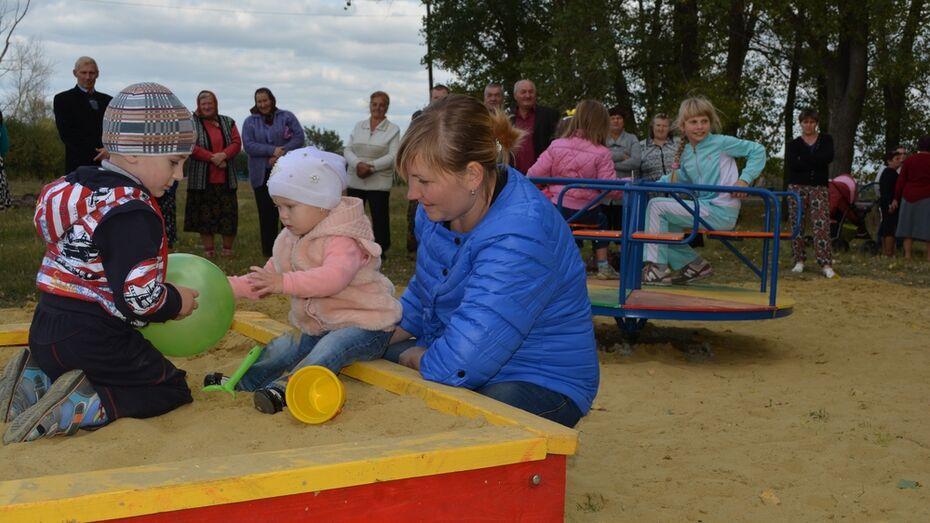 В нижнедевицком селе Синие Липяги открыли  детскую площадку
