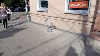 В Воронеже поставили первую велопарковку по обмену