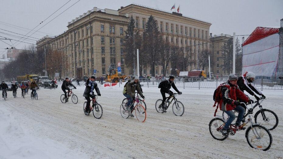 Воронеж первым в России подтвердил участие в велоакции Winter Bike to Work