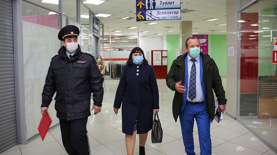 В Воронеже соблюдение масочного режима за 2 недели проверили на 1 тыс торговых предприятий
