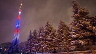 Воронежскую телебашню «закружат» светящиеся снежные метели
