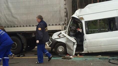 В ДТП с фурой в Воронеже пострадал водитель микроавтобуса