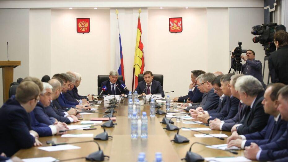 Депутаты Воронежской облдумы и члены правительства обсудили направления совместной работы