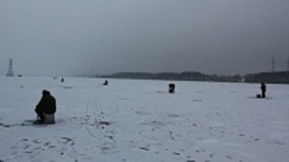 На воронежском водохранилище крепкий лед образуется в середине января