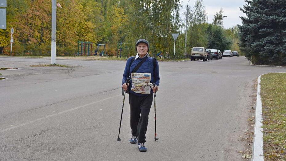 В Каширском районе 84-летний сельчанин прошел 20 км в честь Дня пожилых людей