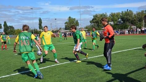 В Поворино футбольная сборная журналистов «НТВ+» проиграла местным спортсменам