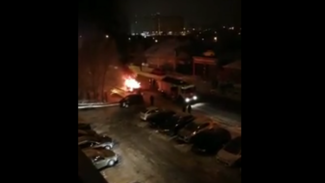 В Воронеже на видео попала горящая в Ленинском районе «пятнадцатая»