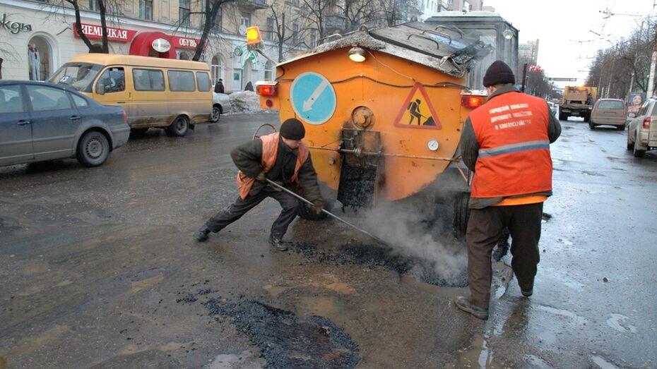 Воронежский губернатор поручил залатать ямы на дорогах до конца апреля