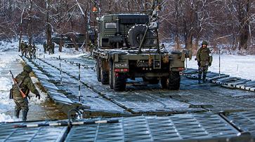 В Воронежской области военные ЗВО провели противопаводковую тренировку