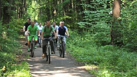 Воронежцы прошли участок Большой экотропы на велосипедах