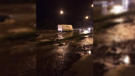 Воронежский авторынок затопило из-за коммунальной аварии