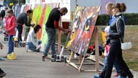 В Семилуках прошел конкурс граффити
