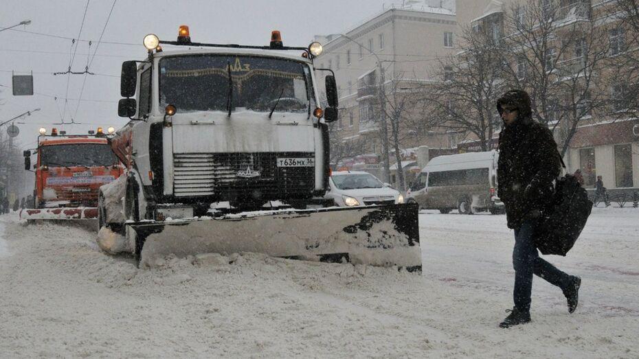 Воронежские коммунальщики выйдут в ночную смену из-за снегопада