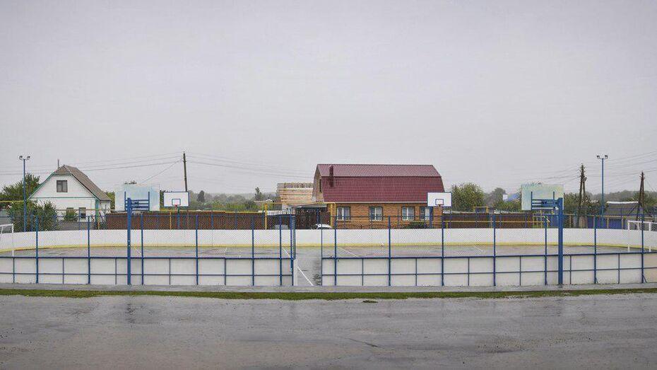 В Лискинском районе открылась многофункциональная спортплощадка