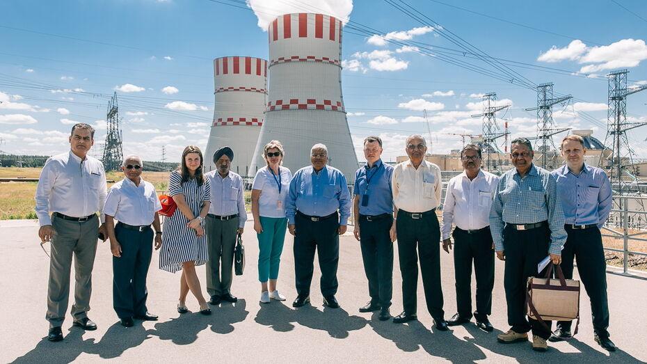 На Нововоронежской АЭС побывали представители индийской атомной энергетики