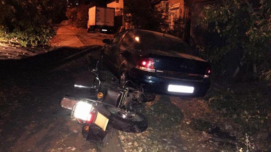 Воронежский байкер на Kawasaki попал в больницу после ДТП