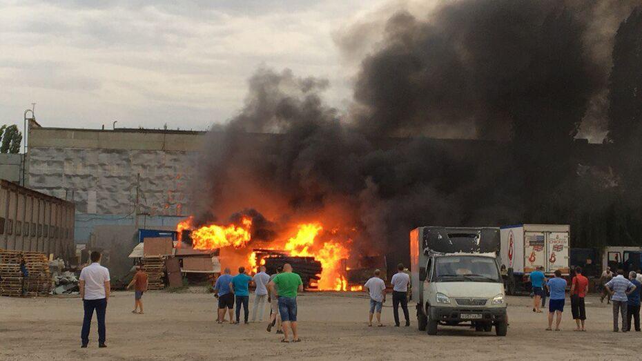 В Воронеже горевший у заправки грузовик попал на видео