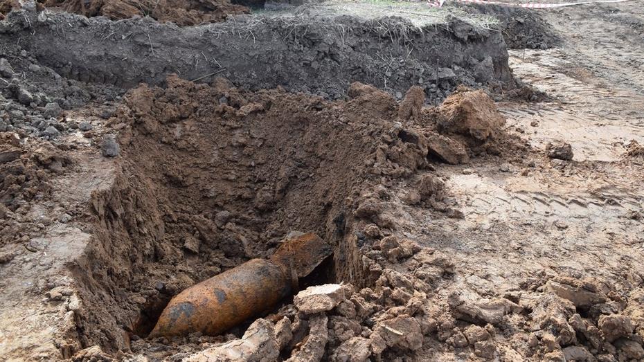 В Семилукском районе нашли авиационную бомбу весом 100 кг