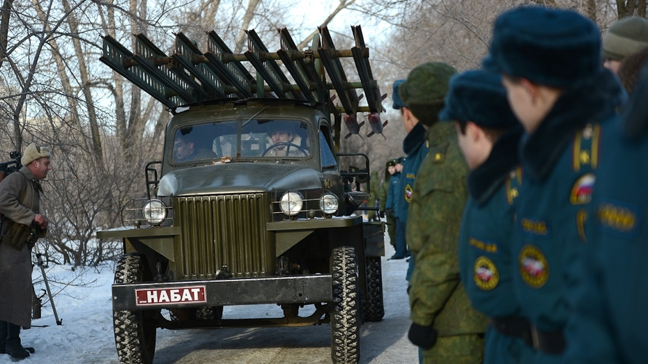 На реконструкцию битвы за Воронеж вернулась легендарная «Катюша»