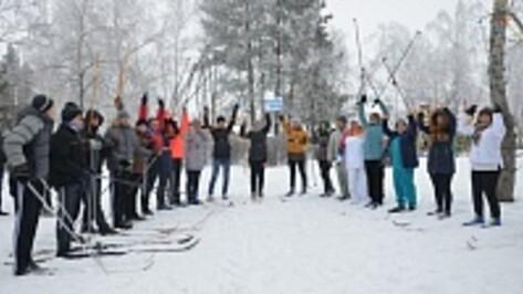 В павловском городском парке состоялся лыжный забег, посвященный открытию Олимпийских игр