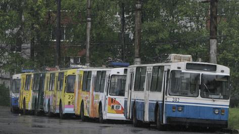 Воронежский троллейбус №11 остановится на 2 дня
