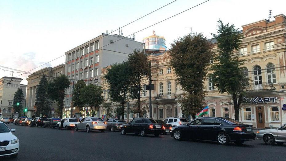 В Воронеже оштрафовали участников автопробега с азербайджанскими флагами