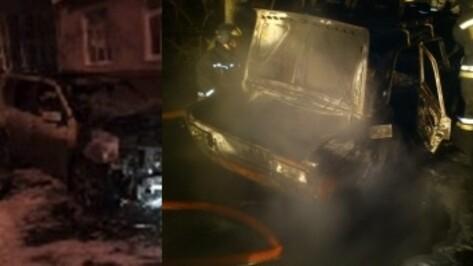 В Воронеже за ночь сгорели 2 машины