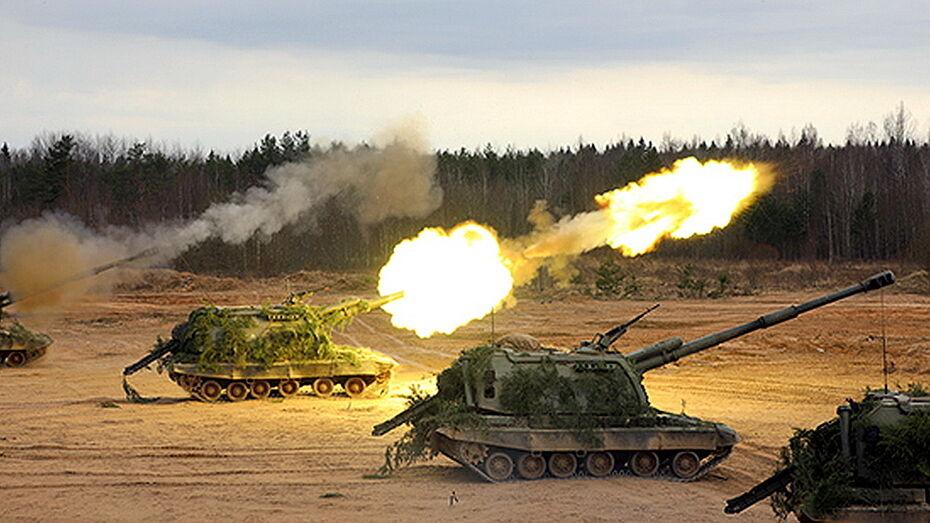 Артиллерия прямой наводкой поразила мишени в Воронежской области
