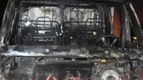 В Павловском районе сгорел микроавтобус Ford