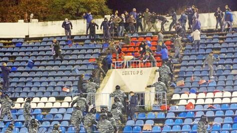 В Воронеже оценили ущерб стадиону от драки фанатов на матче «Факел» – «Динамо»