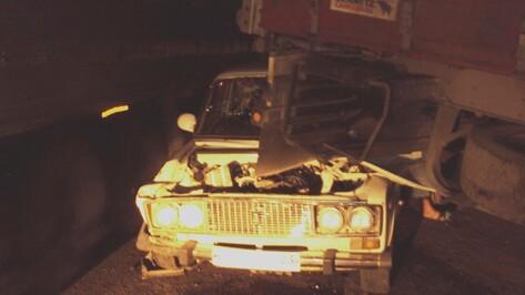 В массовом ДТП под Воронежем двое мужчин погибли и трое пострадали