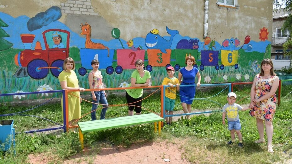 В Грибановском районе жители нарисовали первое граффити