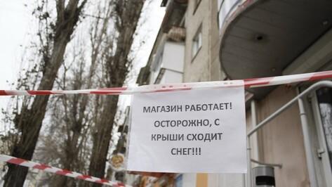 В Воронеже за 10 дней от падения сосулек пострадали 11 человек