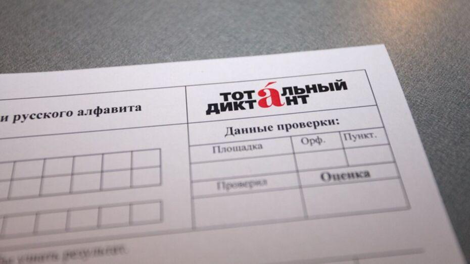 Воронежцы напишут «Тотальный диктант» в Никитинке и Институте искусств