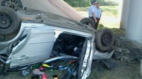 В Воронежской области на трассе Ford Focus  опрокинулся в кювет: погибли четыре человека
