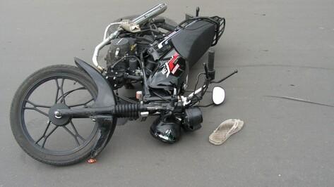 В Ольховатке несовершеннолетний мотоциклист въехал в «ВАЗ»