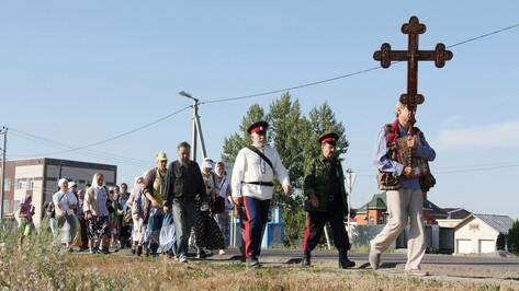Новохоперцы отправились в четырехдневный пеший Крестный ход