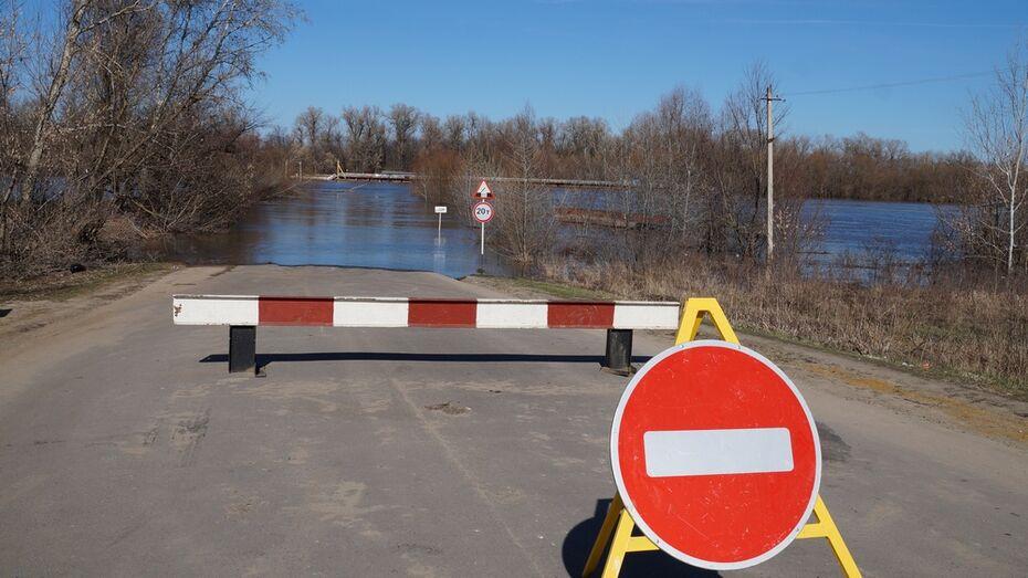 В Богучарском районе из-за разлива реки Дон развели наплавной мост