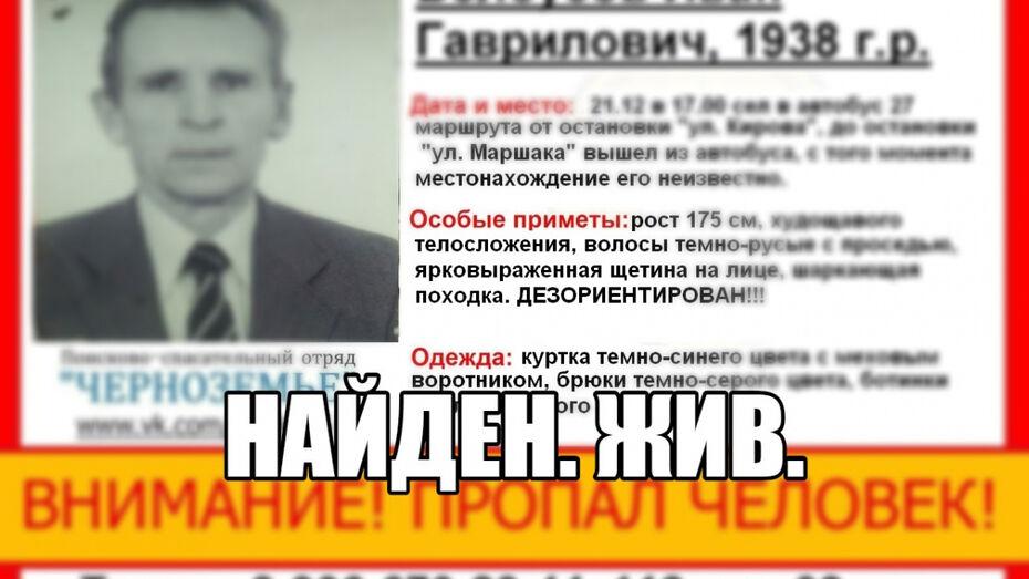 В Воронеже нашли пропавшего 80-летнего пенсионера