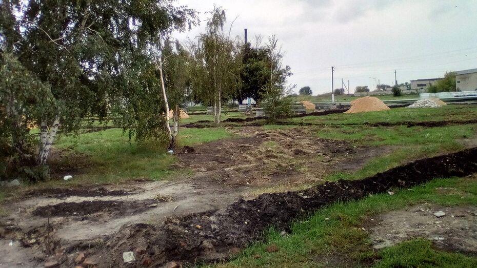 В лискинском селе Второе Сторожевое благоустроят сквер