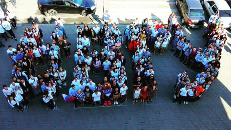 Студенты воронежского госуниверситета провели флешмоб в честь 1 сентября