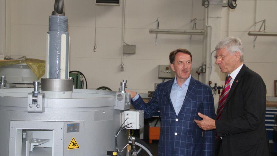 Воронежский губернатор обсудил сотрудничество с 2 промышленными предприятиями ФРГ